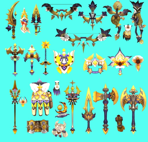 dragon nest weapons